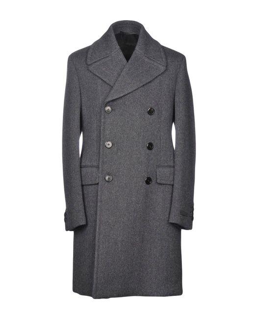 Prada - Gray Coat for Men - Lyst