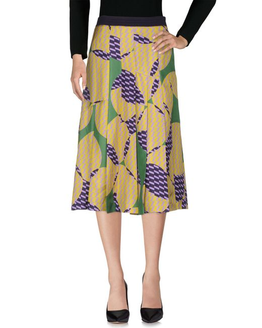 Mantu - Green 3/4 Length Skirt - Lyst