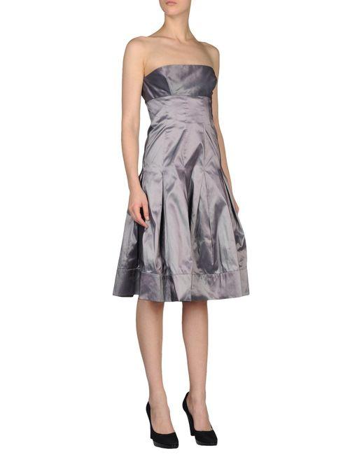 Gai Mattiolo - Metallic Short Dress - Lyst
