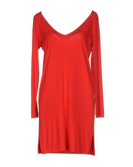 Carla G - Red Short Dress - Lyst