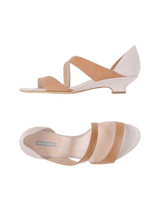 Giorgio Armani | Natural Sandals | Lyst