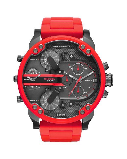 DIESEL - Red Wrist Watch for Men - Lyst