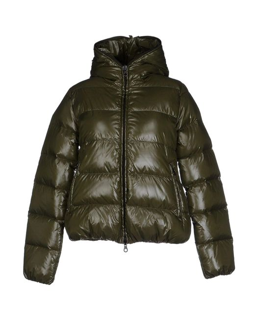 Duvetica - Green Down Jacket With Hood - Lyst
