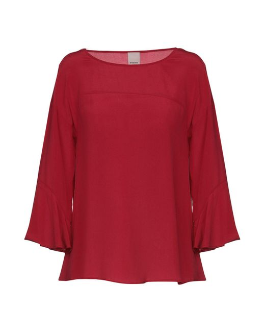 Pinko - Red Blouse - Lyst