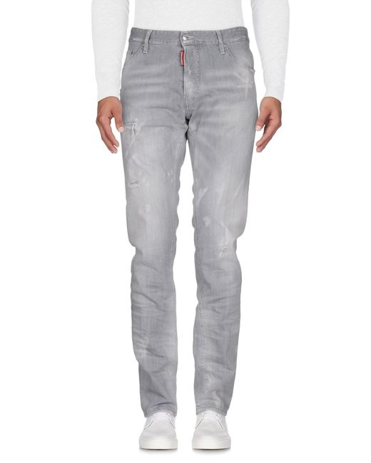 DSquared² Gray Denim Trousers for men