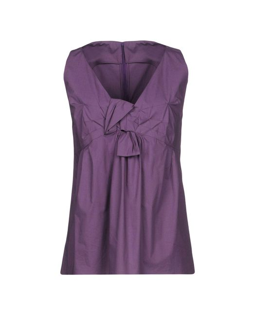 AQUILANO.RIMONDI - Purple Tops - Lyst