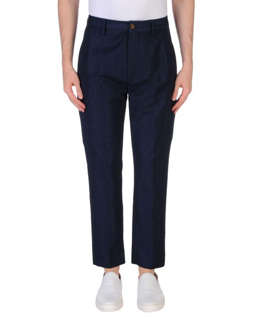 Pence - Blue Casual Trouser for Men - Lyst