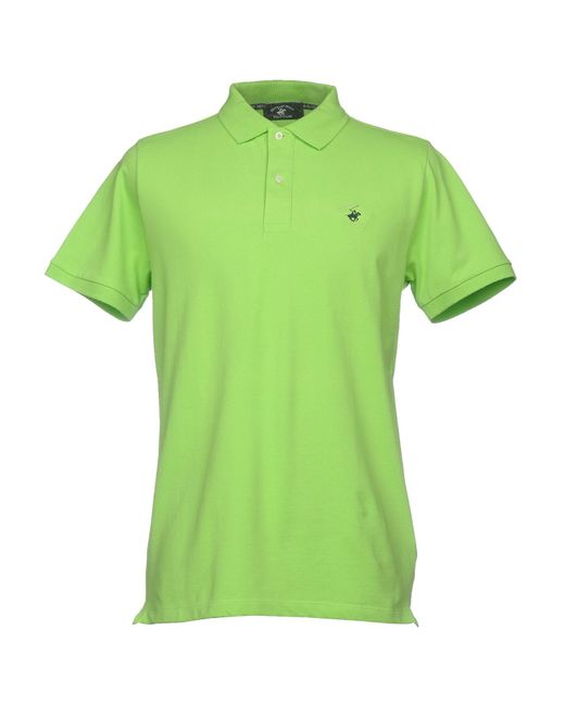 Beverly Hills Polo Club - Green Polo Shirt for Men - Lyst