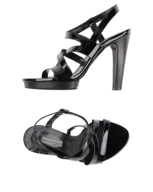 Vic Matié - Black Sandals - Lyst