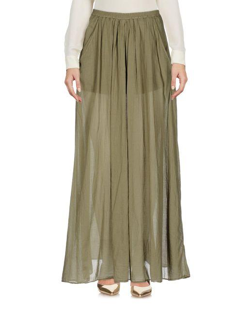 European Culture - Green Long Skirt - Lyst