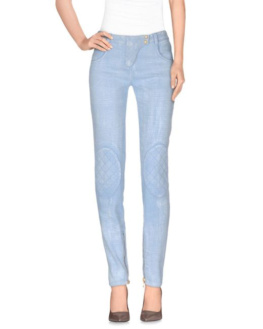 Balmain - Blue Casual Pants - Lyst