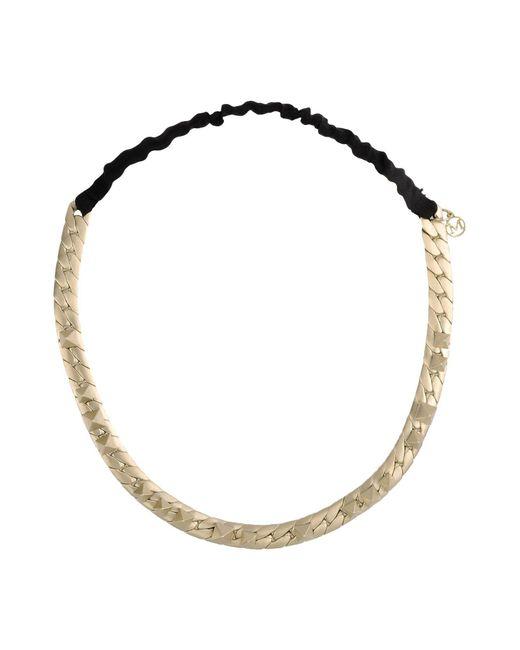 Maison Michel   Metallic Necklace   Lyst