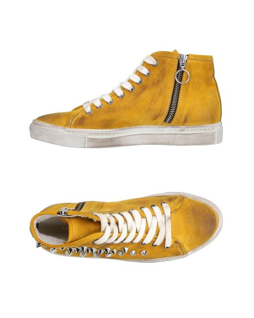 Via Roma 15 - Yellow High-tops & Sneakers - Lyst