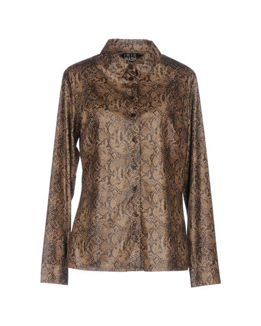 Irie Wash - Brown Shirt - Lyst