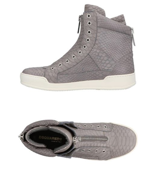 DSquared² - Gray High-tops & Sneakers for Men - Lyst