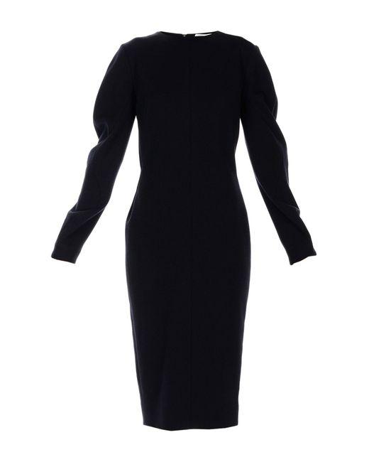 Robe mi-longue Victoria Beckham en coloris Black