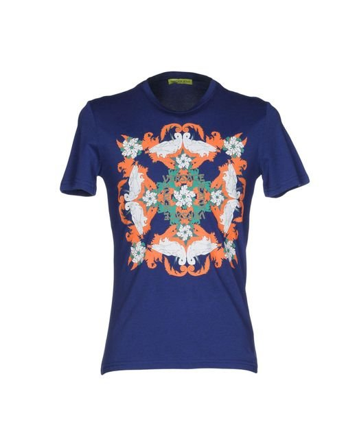 Versace Jeans | Blue T-shirt for Men | Lyst