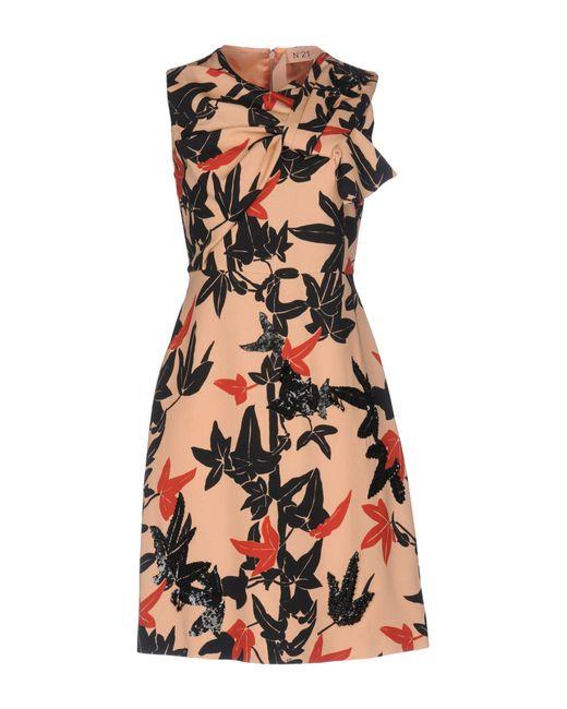 N°21 | Orange Short Dress | Lyst