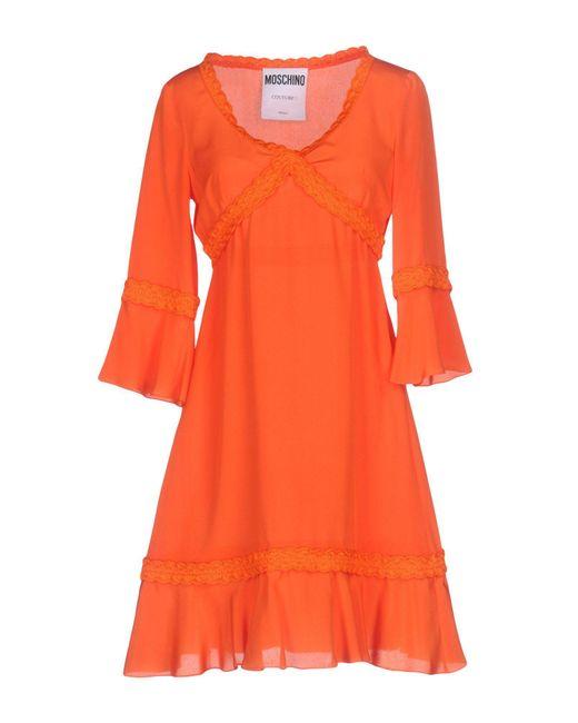 Moschino - Orange Short Dress - Lyst