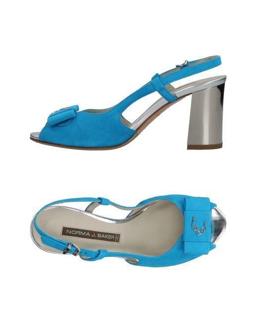 Norma J. Baker - Blue Sandals - Lyst