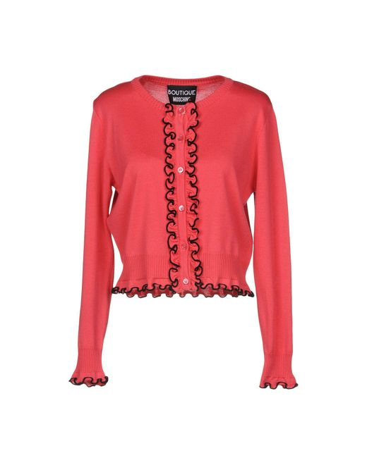 Boutique Moschino - Red Cardigan - Lyst