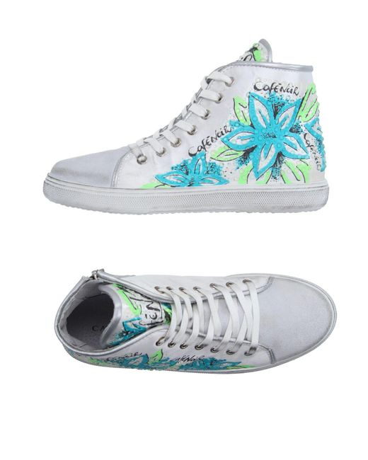 CafeNoir - White High-tops & Sneakers - Lyst