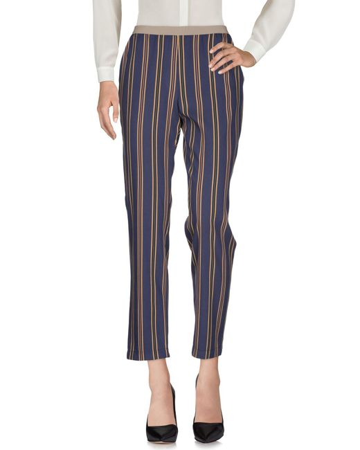 Niu - Blue Casual Trouser - Lyst