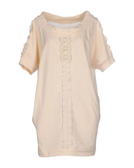 Elisabetta Franchi - Natural Short Dresses - Lyst