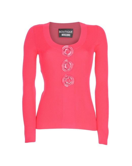 Boutique Moschino - Pink Jumper - Lyst