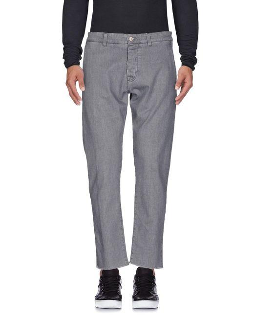 Officina 36 - Gray Denim Trousers for Men - Lyst
