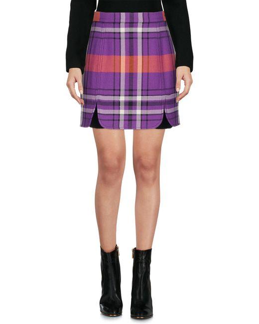 Philosophy Di Lorenzo Serafini - Purple Mini Skirt - Lyst