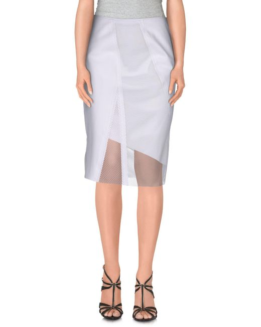 Elie Tahari   White Knee Length Skirt   Lyst