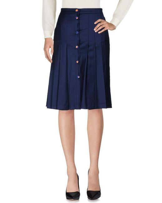 Ultrachic - Blue Knee Length Skirts - Lyst