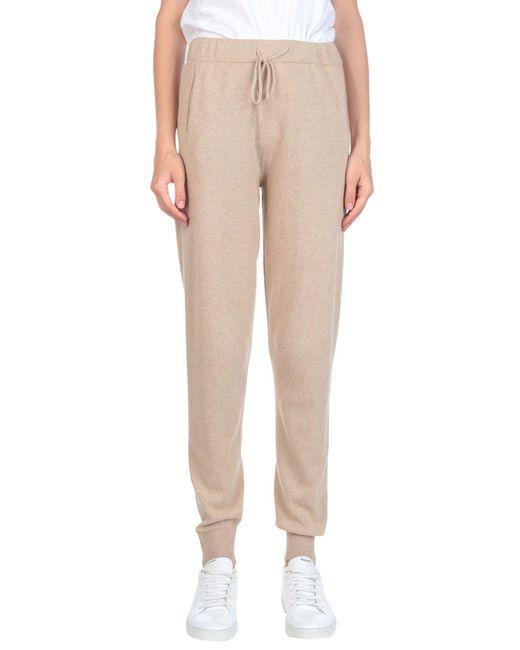 Stefanel - Natural Casual Pants - Lyst