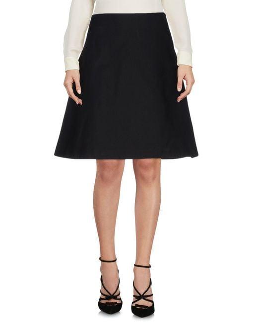 Acne - Black Knee Length Skirts - Lyst
