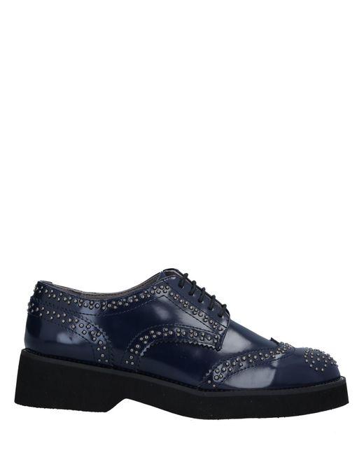 CafeNoir - Blue Lace-up Shoe - Lyst