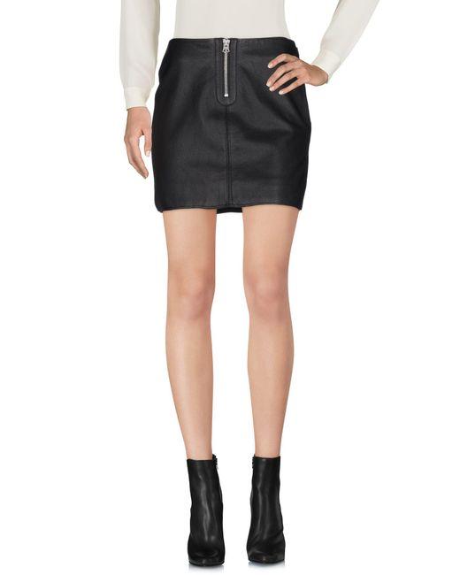Acne | Black Mini Skirt | Lyst