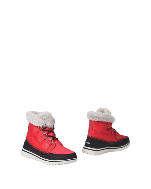 Sorel - Red Ankle Boots - Lyst