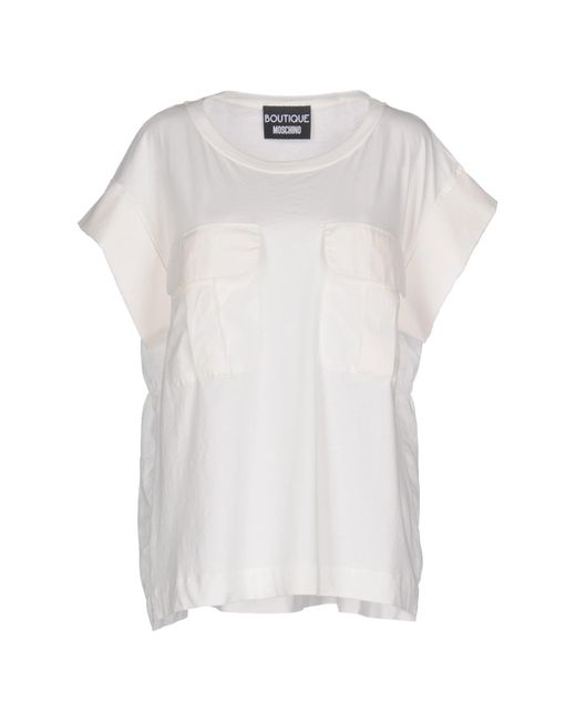 8ccb90b95a07d Boutique Moschino - White T-shirt - Lyst ...