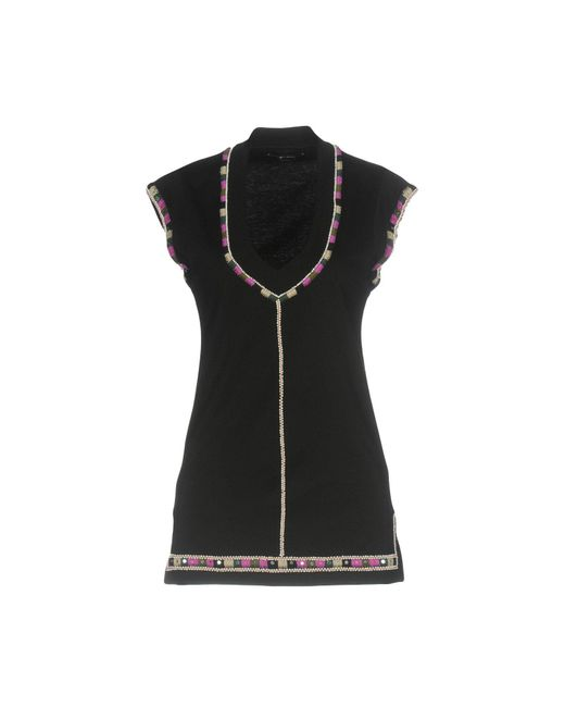 Lyst isabel marant t shirt in black for Isabel marant t shirt sale