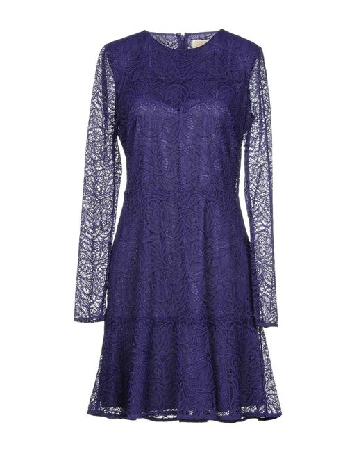 MICHAEL Michael Kors - Purple Short Dress - Lyst