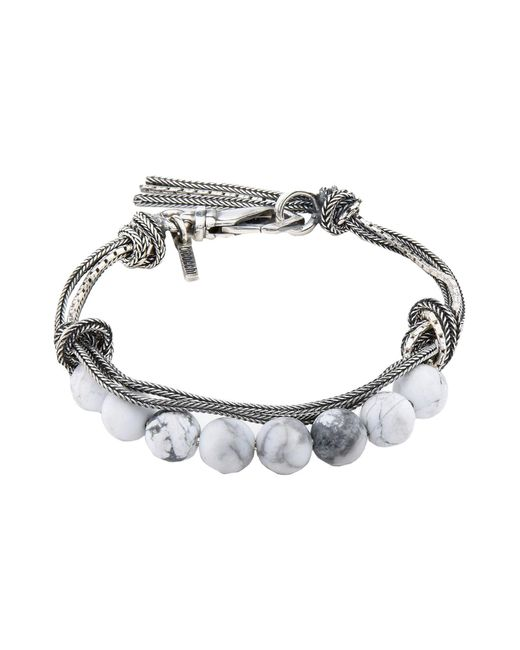 Emanuele Bicocchi - White Bracelets for Men - Lyst