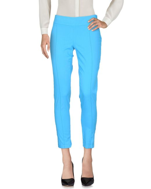 Pianurastudio - Blue Casual Trouser - Lyst