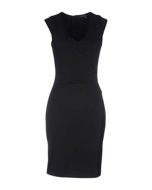 French Connection - Black Short Dress - Lyst