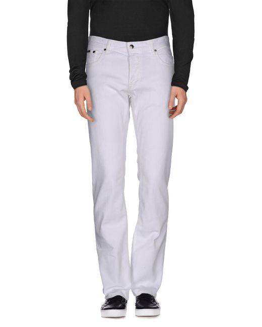Just Cavalli | White Denim Pants for Men | Lyst