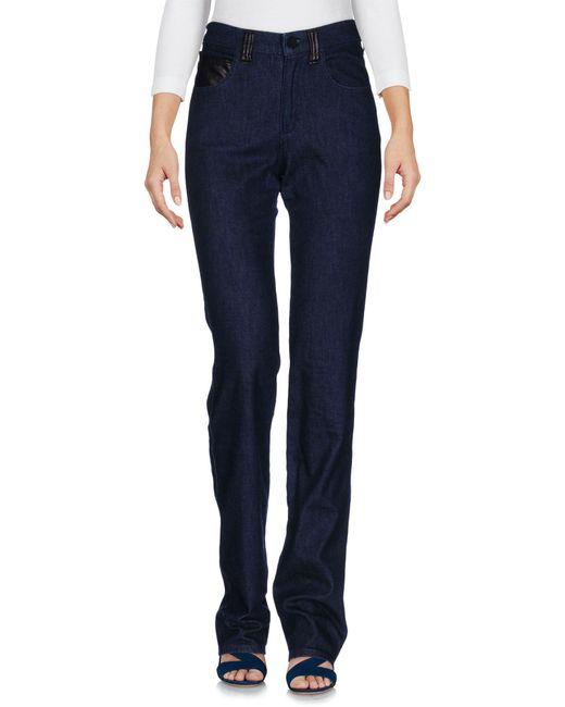 Armani Jeans   Blue Denim Trousers   Lyst