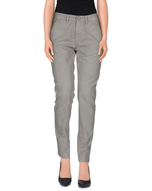 40weft - Gray Casual Trouser - Lyst