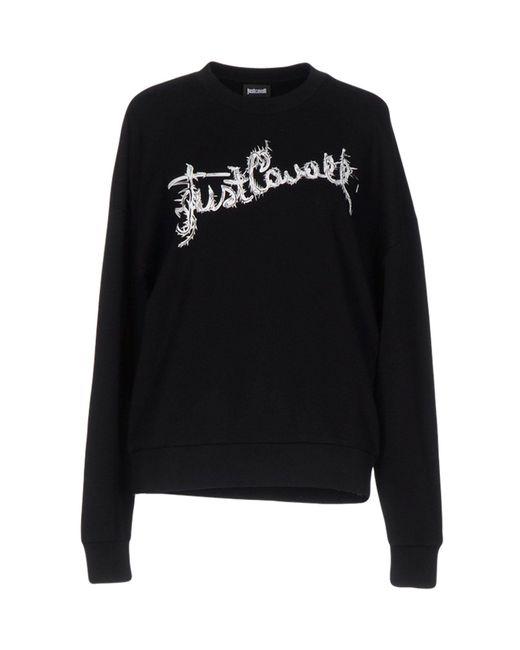 Just Cavalli - Black Sweatshirt - Lyst