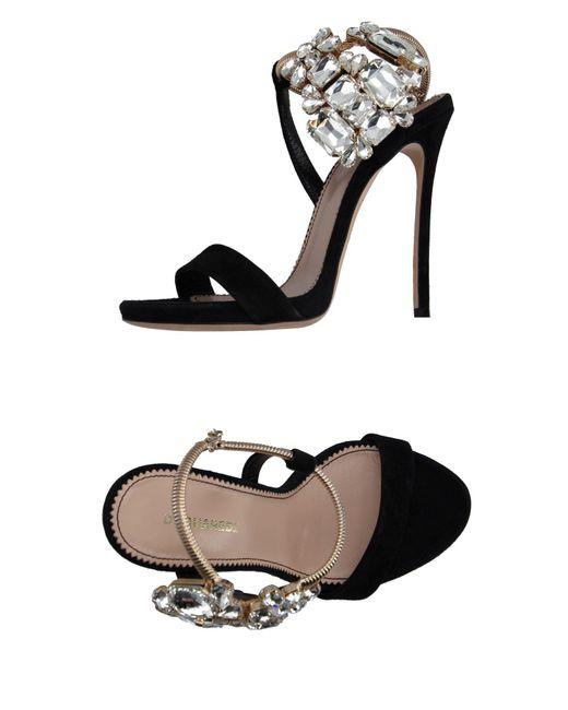 DSquared² - Black Sandals - Lyst