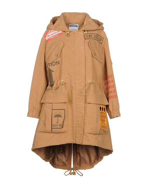 Moschino - Natural Coats - Lyst
